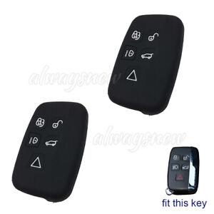 2pcs Silicone Key Cap Cover For Land Range Rover Sport Discovery 4 Evoque Vogue