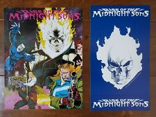 1992 RISE OF THE MIDNIGHT SONS PROMO ITEMS POSTER RACK CARD MARVEL COMICS BOOK