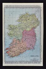 1900 McNally Map - Ireland - Dublin Belfast - Munster Connaught Leinster Ulster