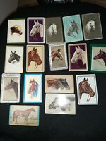 HORSES -- 16  Single Vintage Swap Playing Cards