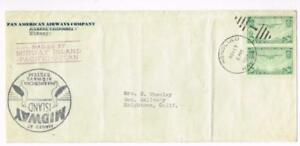 MAILED AT MIDWAY ISLAND PACIFIC OCEAN-Sc#C21(X2)-HONOLULU NOV/17/1937