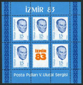 Turkey 2263a S/s, MNH. Kemal Ataturk, 1983
