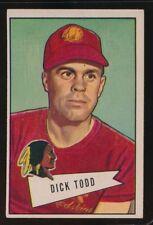 1952 BOWMAN LARGE DICK TODD    VG/EX  WASHINGTON REDSKINS  #43  ROOKIE CARD