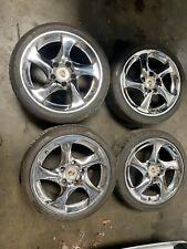 Porsche 911 996 Twin Turbo Twist OEM Wheel Set Chrome 11x18 8x18