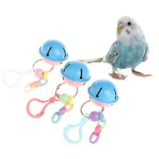 Pets Birds Parrots Colorful Toys Hanging Cage Paws Metal Bells For Mini Medium