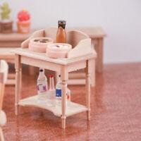 1/12 Holz Miniatur Blank Tisch Möbel Modell DIY Puppenhaus ZubehörYE