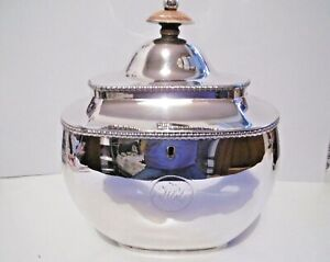 LOVELY ANTIQUE GEORGIAN OLD SHEFFIELD PLATE SILVER ON COPPER TEA CADDY C1820