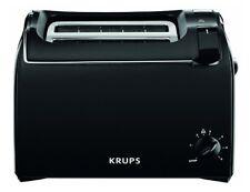 Krups KH 1518 Toaster Pro Aroma Schwarz 2-Schlitz 700 W Brötchenaufsatz KH1518