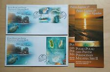 2003 Malaysia Islands & Beaches Series II, 4v Stamps & M/S on 2 FDC ( one pair)