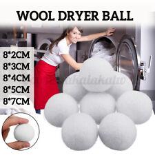 8Pcs 2/3/4/5/7cm Natural Fabric Wool Dryer Ball Laundry Softener Wrinkle-free э