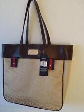 NEW Tommy Hilfiger Authentic Large Roomy beige  Handbag Tote Travel Bag  PURSE