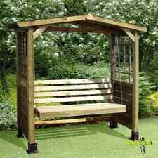 Garden Swing Bench Wooden Seat Wood Arbour Outdoor Furniture Pressure Treated PC