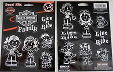 harley davidson motorcycle HD family mom dad bike kid sticker decal live ride