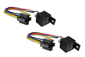 2 LOT TEMCo 12V 30 Amp Bosch Style S Relay with Harness Socket SPDT Automotive
