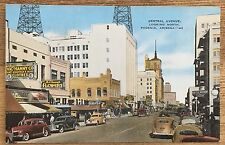 Vintage Color Linen Postcard of Central Ave. looking North in Phoenix Arizona AZ