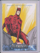 2012 Avengers Assemble Daredevil Sketch Card by Boo 1/1
