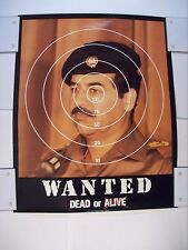 """VINTAGE 1991 SADDAM HUSSEIN POSTER WANTED DEAD OR ALIVE 16"""" x 20"""" Gulf War rare"""