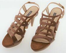 Ms004148 pilar abril Arabella señora sandalias de cuero marrón UE 40