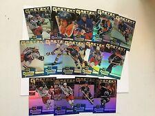 Wayne Gretzky foil hockey complete insert card set