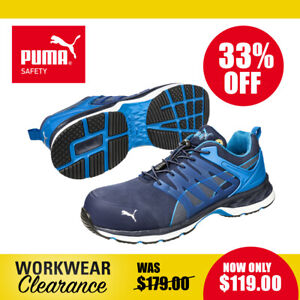 Puma Safety Work Boots 643850 Velocity 2.0 Blue NEW with tags