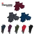 Boys Girls Thinsulate Thermal Lined Fleece Gloves Childrens Kids Winter Warm