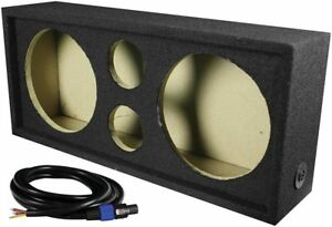 "Qpower CH103S Full Range Empty Box Holds 2 - 10"" & 2 - Super Tweeter W/ Speakon"