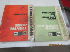 CORVETTE 1980 SERVICE MANUALS
