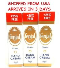 Ship From Usa 3 Tubes Fenjal Hand Cream Classic Immediate Absorption 3 x 100 ml