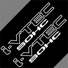 Car White I-VTEC IVTEC SOHC 10'' for Accord Freed Vinyl sticker Decal 2PCS CF716