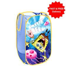 SPONGEBOB Pop Up Mesh Cesto Cesto per biancheria Borsa Bin giocattolo Tidy Storage kids boy