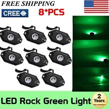 8X 9W Pods Green LED Rock Lights 2inch for Jeep Off Road Truck Boat Accessories
