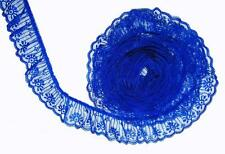 ROYAL BLUE~2 Inch Wide Ruffled Candlewick Lace Trim~By 5 Yards