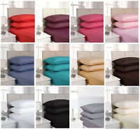 4FT Fitted Sheets Small Double Polycotton 10'' (25cm) Deep Fitted Three Quarter