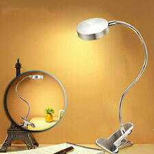 3W Light Dimmer LED Flexible Read Light Clip-on Bed Table Desk Lamp Silver New