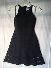 HERVE LEGER Alison Crochet trim Dress Size small