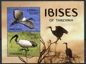 Tanzania 2015 MNH SS, Birds, African Sacred Ibis