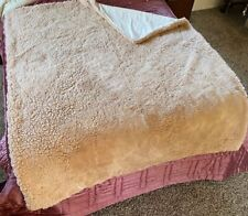 "Donna Salyer's Fabulous Furs Pink Throw Blanket 60"" x 73"" Faux Fur ivory"