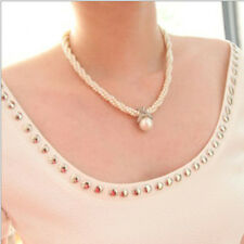 Fashion Jewelry Pearl Choker Chunky Statement Bib Pendant Chain Necklace