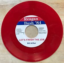 Reagan/Bush 1984 Campaign 45 RPM Red Vinyl - Let's Finish The Job