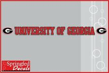 UNIVERSITY OF GEORGIA STRIP Vinyl Decal Car Truck Window Sticker UGA Bulldogs