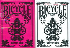 BICYCLE NAUTIC BACK PLAYING CARDS 2 DECK SET PINK & WHITE