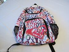 Roxy pink black LOGO NWT NEW Girls juniors book bag back pack bookbag surf skate