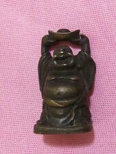 """MINIATURE BRONZ BUDDA 2 """" figurine"""