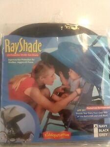 Stroller Kiddopotamus Ray Shade Navy UV Protective Stroller Shade UPF 50+
