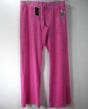 JUICY COUTURE NWT VELOUR PANTS SIZE XL EXTRA LARGE SOLID PINK