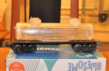 Lionel 2465 Tank Car- Clear Shell on restored frame and trucks