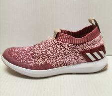Adidas Rapidarun Laceless Knit Junior Casual Sneakers Maroon Girls Size 6
