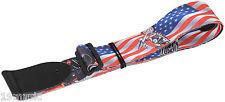 GUITAR BASS STRAP USA stelle strisce MOTO BIKER HARLEY DAVIDSON FLAG (1513)
