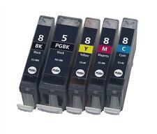 PACK 5 CARTUCHOS TINTA COMPATIBLE CANON PGI-5 CLI-8 PIXMA iP4200 iP4300 IP4500