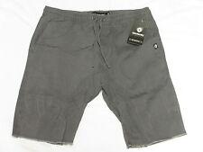 NWT NEW Mens Akademiks Sureshort Washed Twill Shorts Grey Urban Sz 2XL XXL M961
